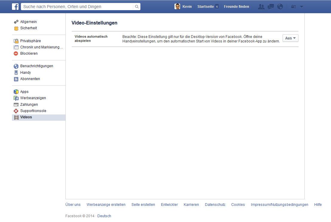 Facebook Videos Ausschalten