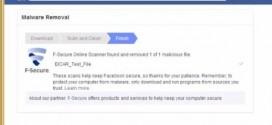 Facebook Maleware Scanner in Zusammenarbeit mit F-Secure und Trend Micro