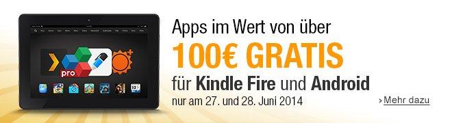 Apps im Wert von über 100 EUR gratis für Kindle Fire und Android