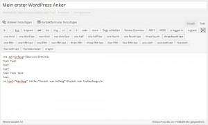 Anker setzen in WordPress So geht es