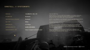 COD-Systeminformationen-Bild