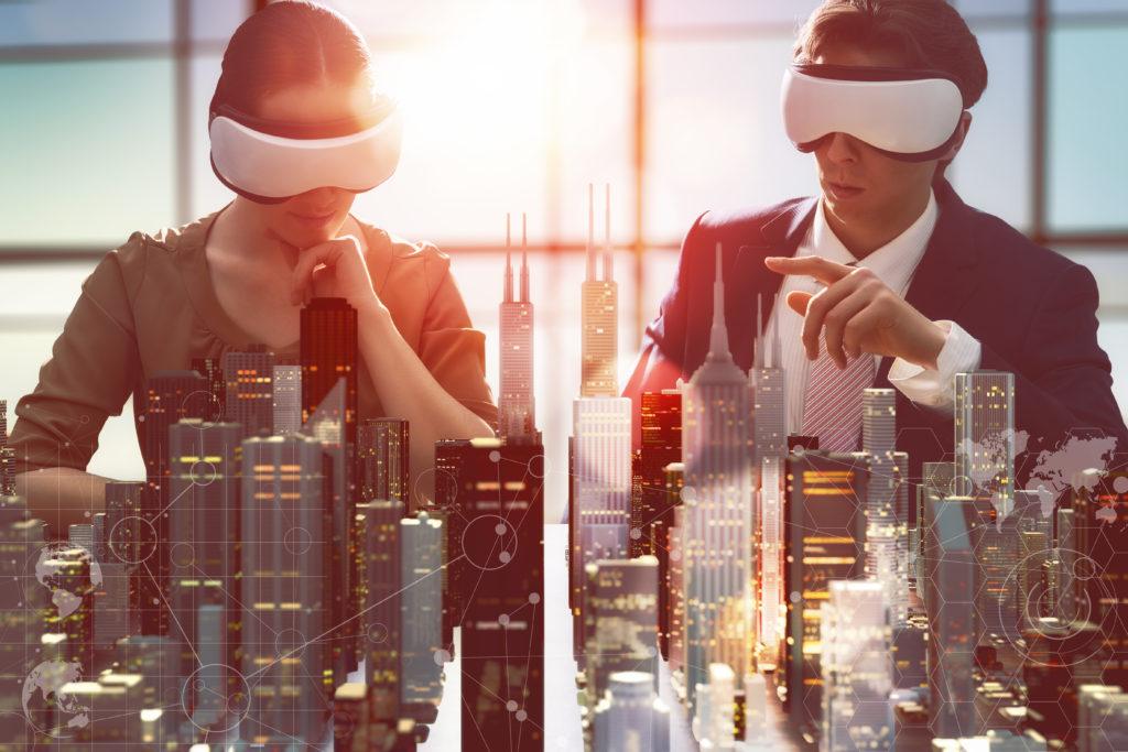 VR Headsets auf der Arbeit