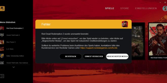 red-dead-redemption2-wurde-unerwartet-beendet-fehler-beheben-header